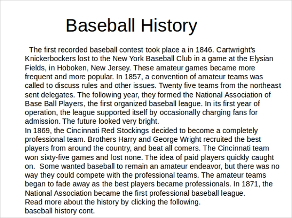 6+ Baseball Powerpoint Templates | Sample Templates