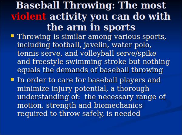 baseball throwers presentation ppt