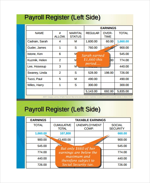 accounting payroll register template
