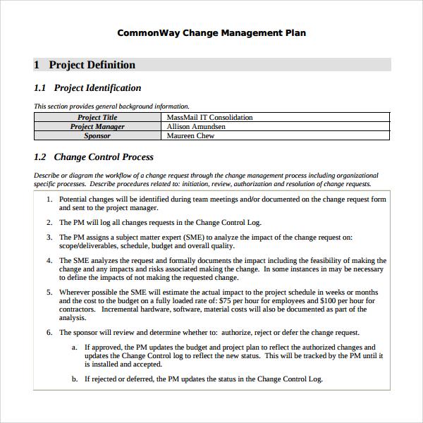 Free Business Process Improvement Plan Template