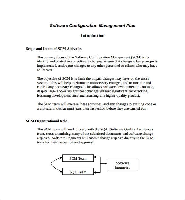 Sample Configuration Management Plan Template   Free Documents