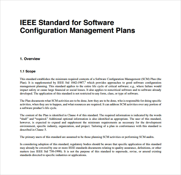 Sample Configuration Management Plan Template   Free Documents In Pdf
