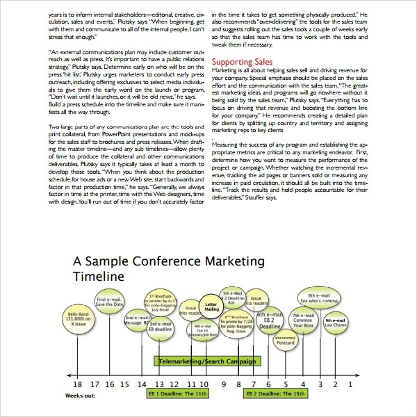 Sample Marketing Timeline Template   Free Documents In  Word