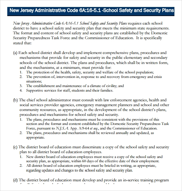 school safety and security plan