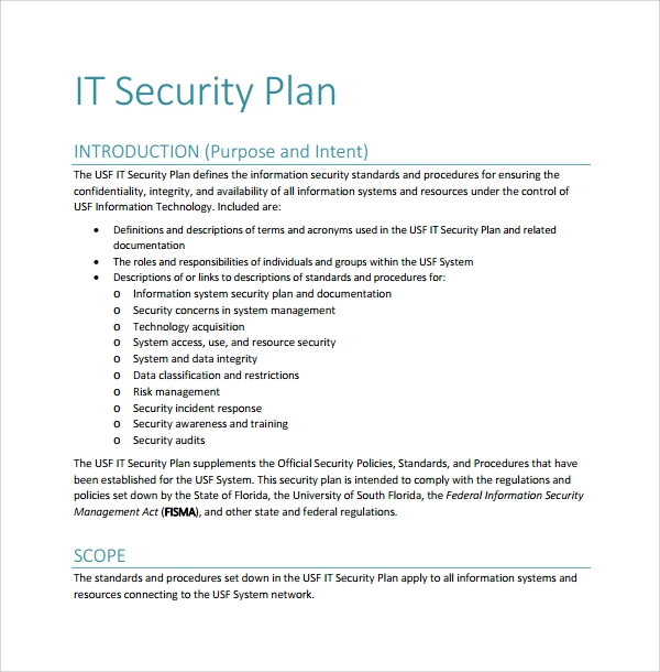 security remediation plan template - 10 security plan templates sample templates
