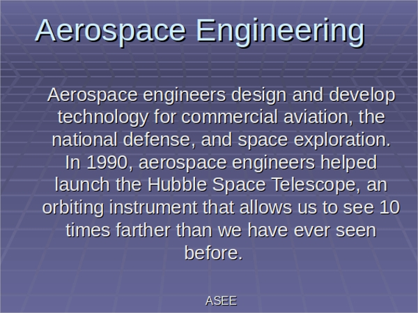 aerospace engineering presentation ppt