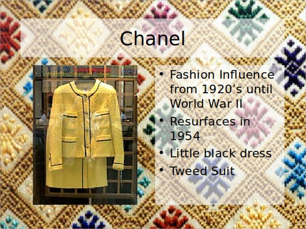 fashion history powerpoint template