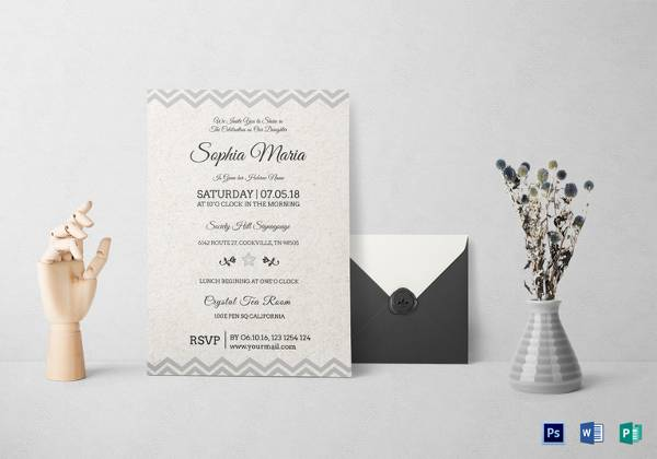 born naming ceremony invitation template in word