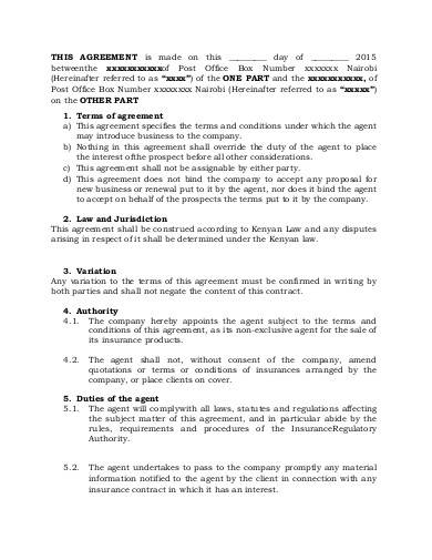 business agency agreement1