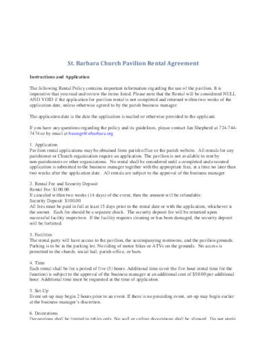 business rental agreement