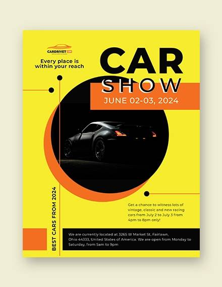 car show flyer template3