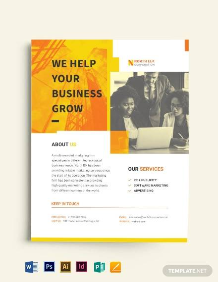 corporate strategy business flyer template