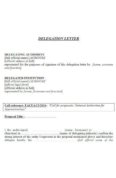 delegation letter in ms word