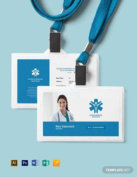 doctor id card template