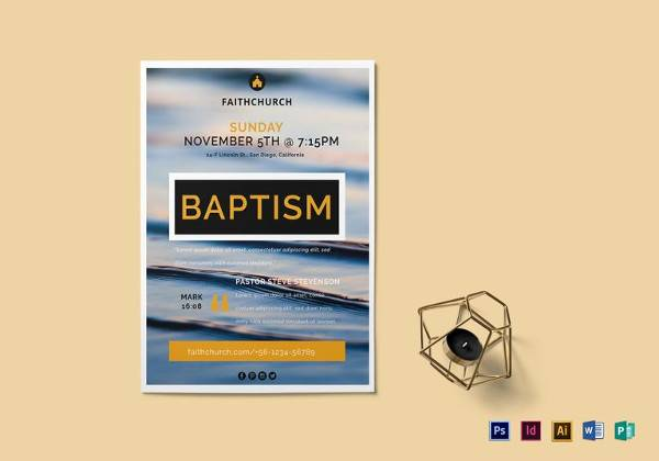 editable baptism flyer template