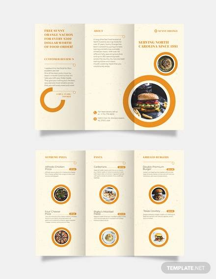 FREE 27+ Food Brochure Templates in MS Word PSD EPS