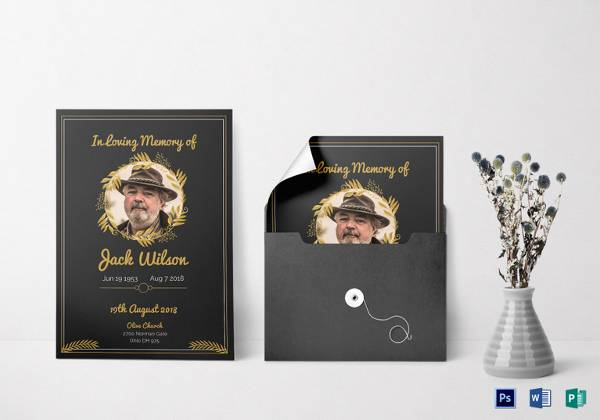 funeral invitation template in psd