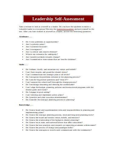general leadership self assessment
