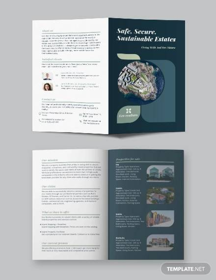 island vacation bi fold brochure template