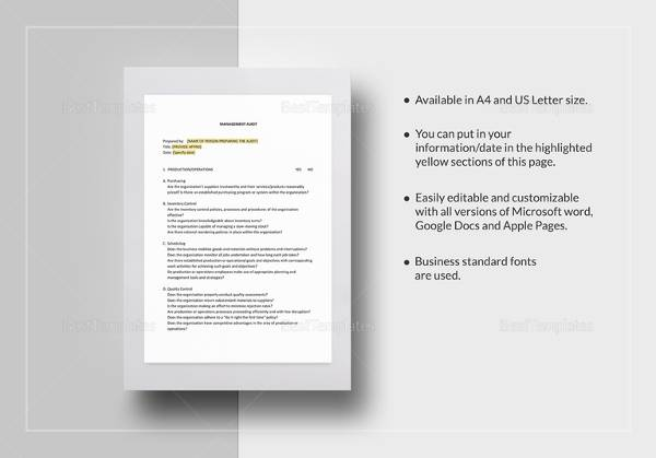 13+ Audit Checklist Templates – PDF, Word, Excel, Pages | Sample ...