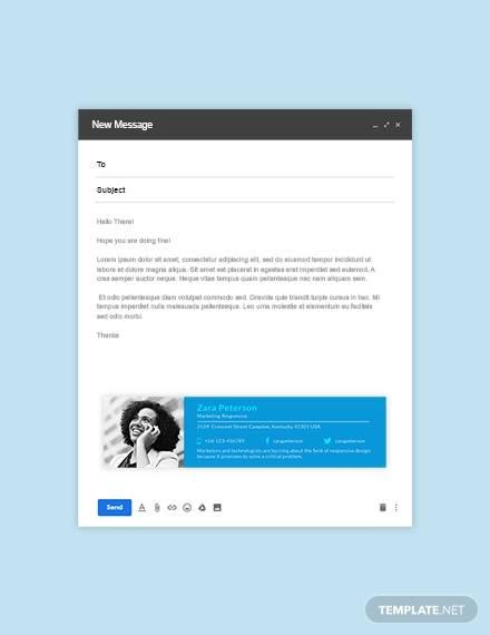 marketing responsive email signature