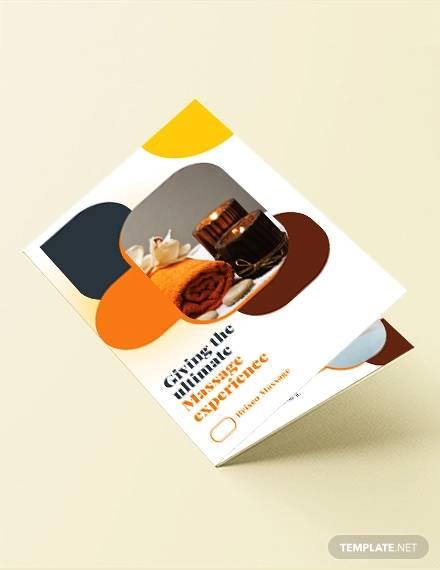 massage bi fold brochure template