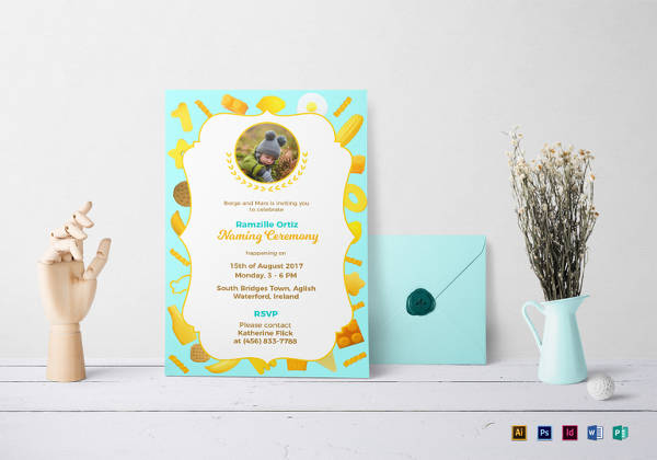 Naming Ceremony Invitation Template  Ceremony Invitation Template