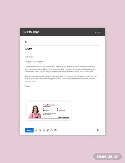 online market email signature template