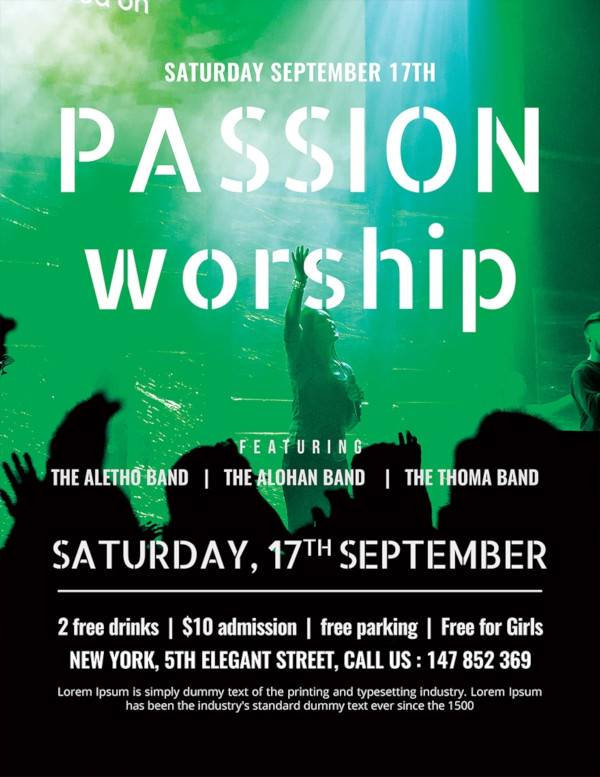 passion worship conference flyer
