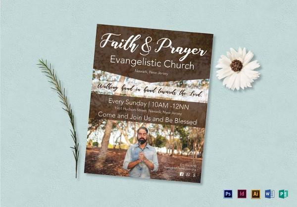 printable faith and prayer flyer template