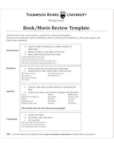 printable film review template