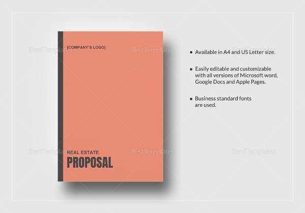 10 Real Estate Proposal Templates Sample Templates