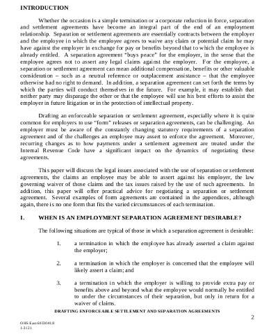 sample business separation agreement