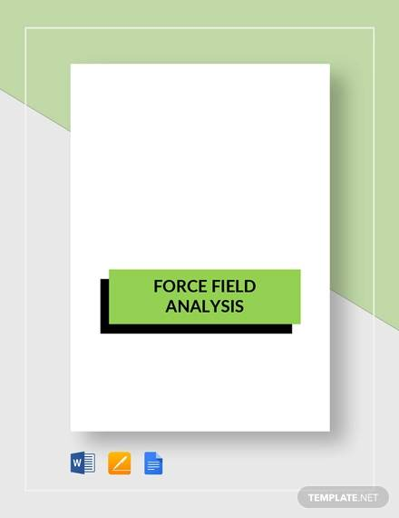 sample force field analysis