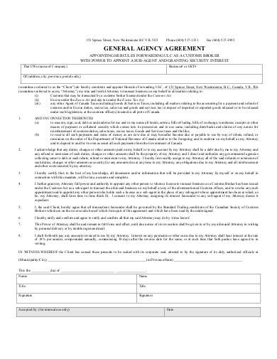 sample general agency agreement1
