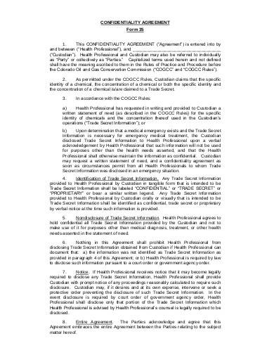 sample medical confidentiality agreement1