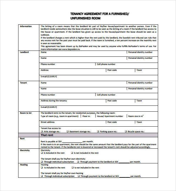 simple tenancy agreement template