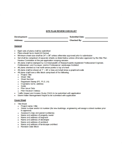 site plan review checklist