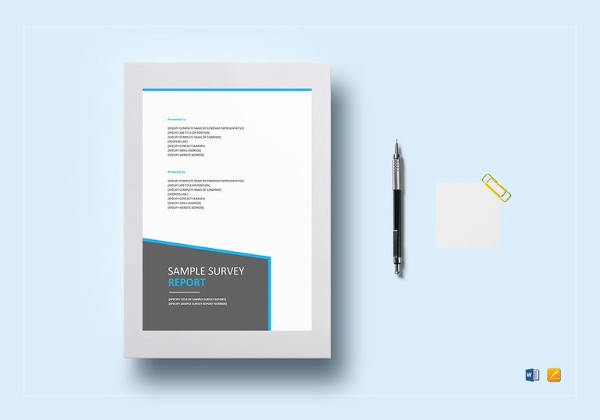 survey report template in ipages