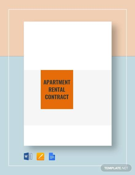 apartment rental contract