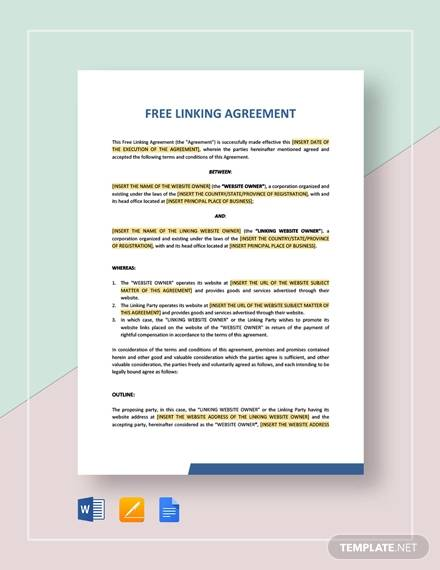 free linking agreement