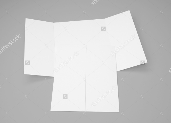 blank gate fold brochure isolated