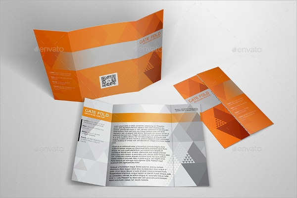 Perfect Realistic Gate Fold Brochure Mockup