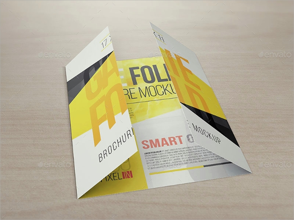 high resolution gate fold brochure mockup