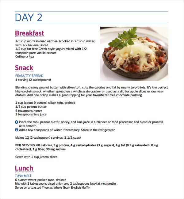 Low carb diet plan week 1