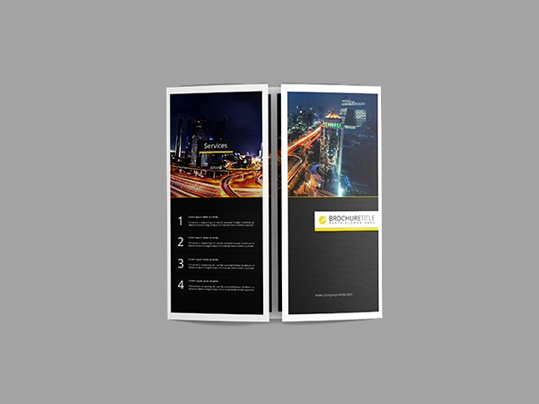 double gate fold brochure mock up