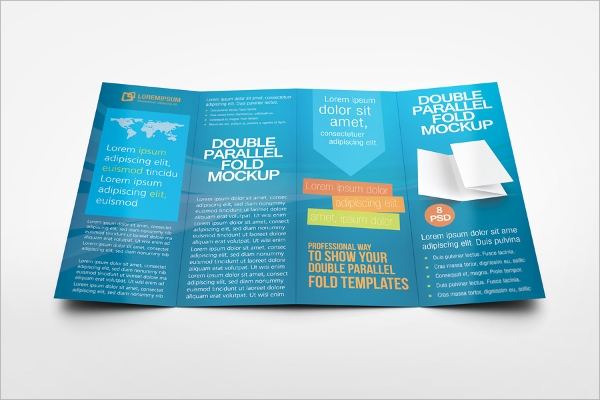 parallel double gate fold brochure mockup