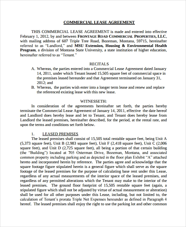 Truck Leasing Template Doc  Commercial Truck Lease Agreement