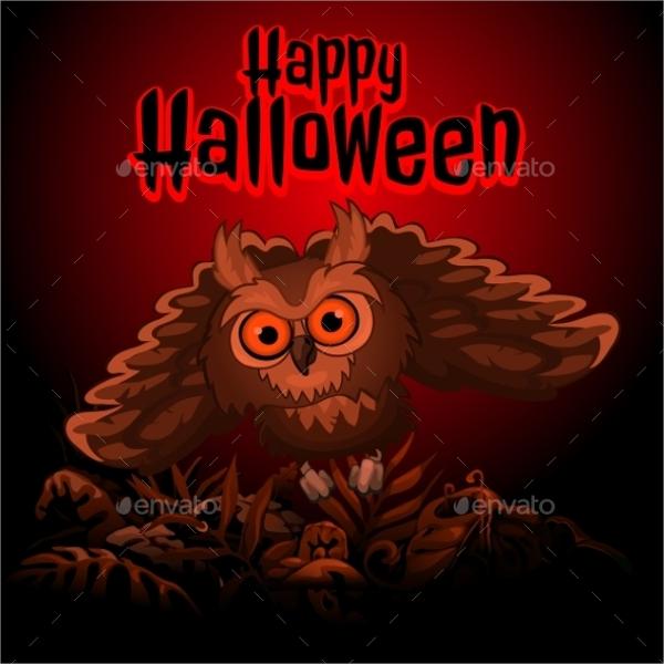 owl halloween invitation template