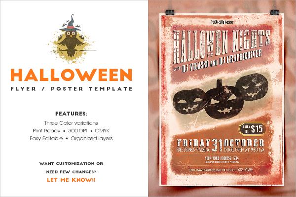 vintage halloween invitation template